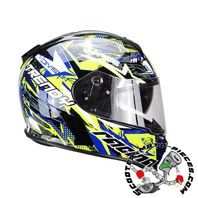 CASQUE TRENDY 20 T-602 SKIDDY BLEU/JAUNE