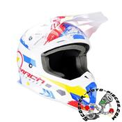 CASQUE CROSS TRENDY 20 T-902 MACH1 BLANC/BLEU/ROUGE