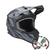 CASQUE CROSS TRENDY 20 T-903 LEAPER NOIR/GRIS MAT
