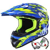 CASQUE CROSS NOEND CRACKED BLEU