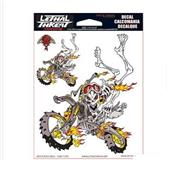 Sticker Motocross Squelette