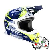 CASQUE CROSS TRENDY 20 T-902 MACH1 BLEU/JAUNE