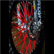 Couvre rayons Rouge Moto/Cross/Pit Bike
