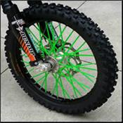 Couvre rayons Vert Fluo Moto/Cross/Pit Bike